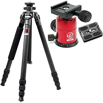 HORUSBENNU Camera Carbon Tripod C-2840V 63 Black with Ballhead LX-3T Black