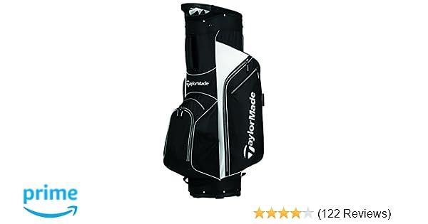 Amazon.com : TaylorMade 2017 Golf Bag TM Cart Bag 5.0 BlkWht ...