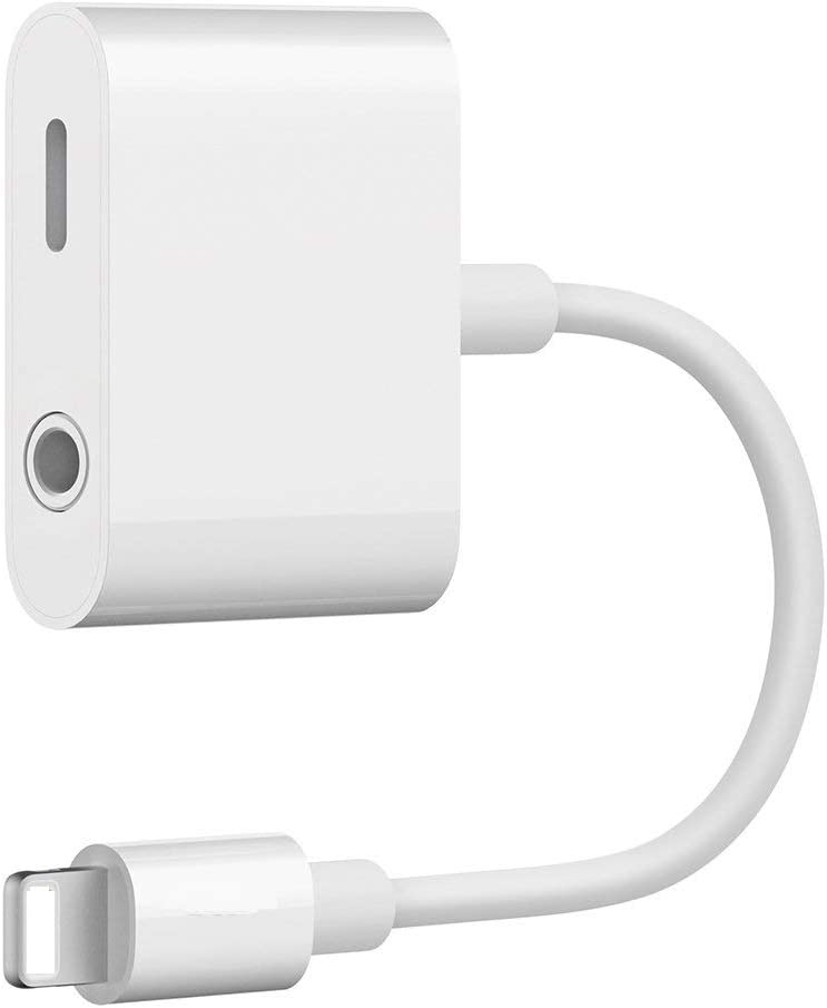 [Apple MFi Certified] Lightning to 3.5mm Headphone Adapter, 2 in 1 Lightning to 3.5mm Earphone Audio & Charger Splitter Compatible with iPhone 11/XS/XR/X 8, 7, iPad,Support Calling+ Sync+Music Control