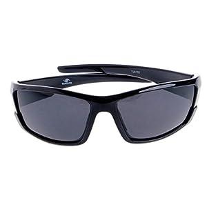 YDZN Men Polarized Sunglasses Driving Cycling Glasses Sports Outdoor Fishing Eyewear(Bright Black)