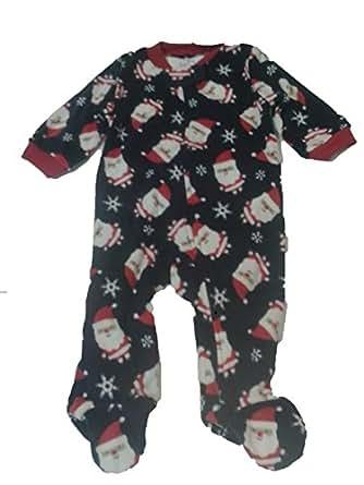 9e87a3bc8 Amazon.com  Carters Fleece Blanket Sleeper Footed - 3t Blue santa ...