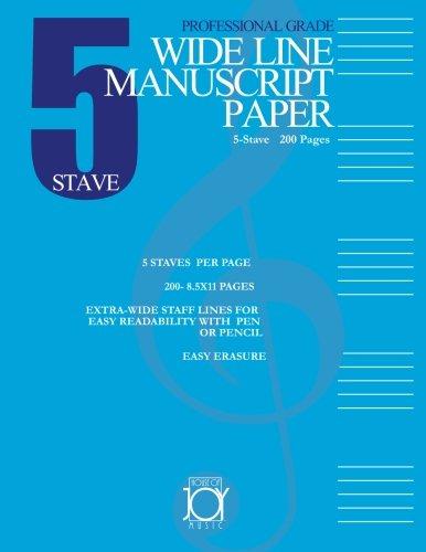 Five Stave Wide Line Manuscript Paper pdf epub