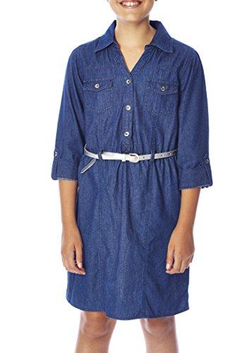 jean button up dress - 6