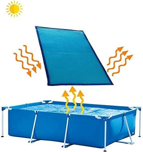 プールカバー 15.7ミル ソーラーカバーを厚くする- バブルタイプ、矩形 地上/地下 安全性 プールカバー、青い スパブランケット 温水浴槽カバー (Size : 2×4m(6ft×13ft))
