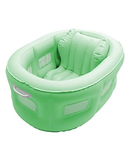 Swim Central 4-in-1 Room to Grow Portable Green Inflatable Baby Bathinet