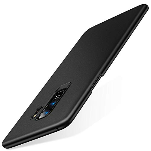 TORRAS Slim Fit Galaxy S9 Plus Case Hard Plastic PC Ultra Thin S9 Plus Mobile Phone Cover Case Matte Finish Coating Grip Compatible with Samsung Galaxy S9 Plus, Black by TORRAS