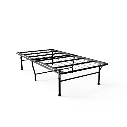 Zinus 16 Inch SmartBase Deluxe Mattress Foundation/ 2 Extra Inches high for Under-bed Storage / Platform Bed Frame / Box Spring Replacement / Strong / Sturdy / Quiet Noise-Free, Twin - Frame Cap