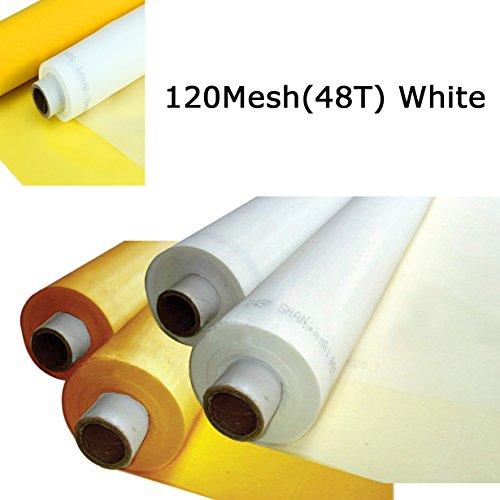 3 Yards 1.27 Meters Silk Screen Printing Fabric Mesh Screen Printing Mesh Wide High Tension Mesh Making Ink Supplies (120 Mesh(48T)) (Best Screen Printing Supply)