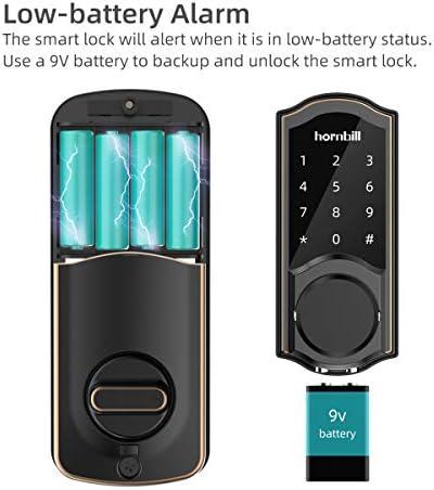 [2020 Newest Version] Keyless Entry Door Lock Deadbolt, Smart Lock Front Door, Electronic Door Locks with Keypads, Digital Auto Lock Bluetooth Smart Door Locks for Homes Bedroom 41qHkXqS52L