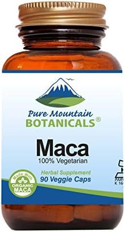 Maca Root Capsules - 90 Kosher Vegan Pills Now with 1000 mg Organic Raw Macca and Gelatinized Maca Root