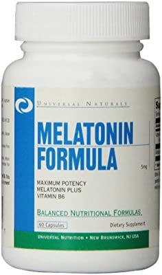 Melatonin Sleep Support Supplement – More Restful and Deeper Sleep with Vitamin B6 for Maximum Absorption – Sleep, Recovery and Growth 5mg - 60 Count