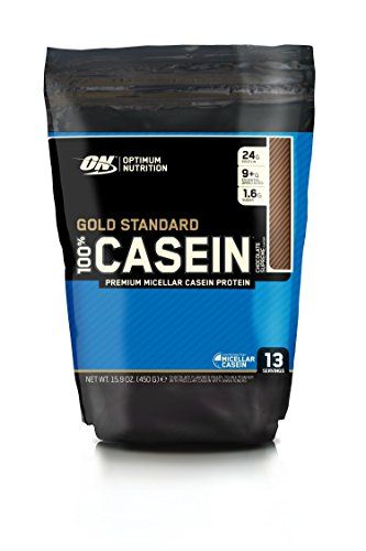 Optimum Nutrition Gold Standard Casein Slow Digesting Protein Powder Shake with Glutamine and Amino Acids, Chocolate Supreme, 13 Servings, 450 g