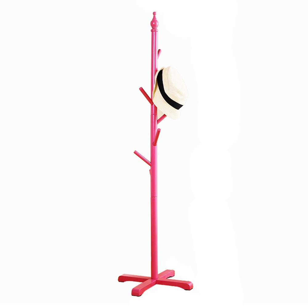 Pink Barture Clothes Rack Coat Stand Hat Rack Hooks for Bedroom Office Hallway Garage Free Standing Pergola Flower Stand 120  38 cm (color   Pink)