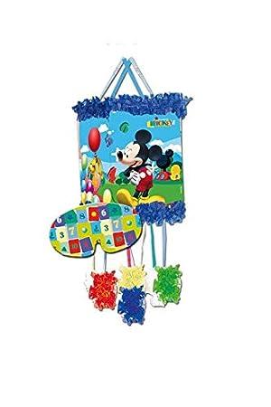 Verbetena 014000285 Mickey Mouse - Piñata Viñeta para cumpleaños y celebraciones, Clubhouse balones