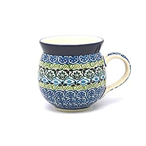 Polish Pottery Mug – 11 oz. Bubble – Tranquility