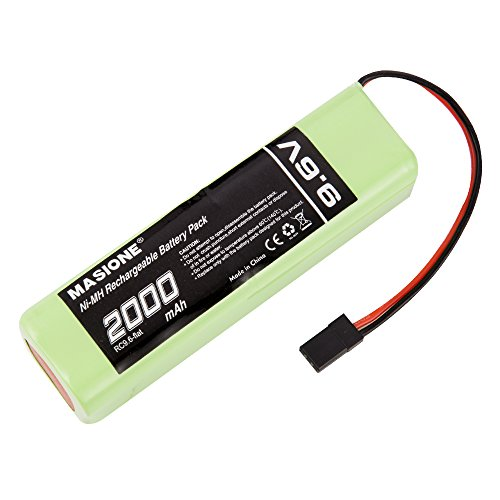 Airtronics Battery (Masione 9.6V 2000mah Square Futaba NT8S600B Transmiter Battery pack Hitec connector for RC Cars, Airplanes, Airboat, PTR)
