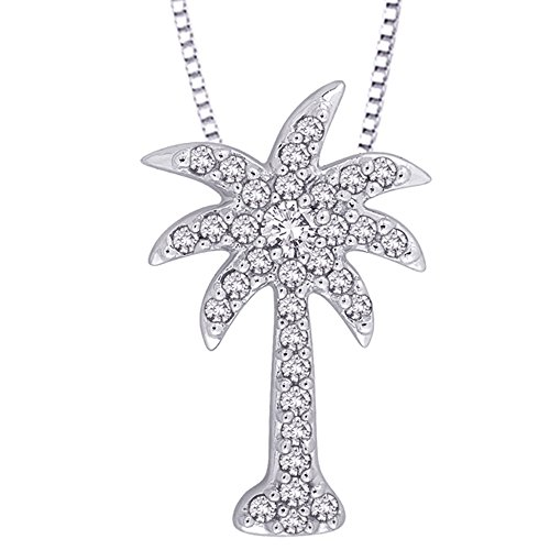 Diamond-Palm-Tree-Pendant-Necklace-in-10K-Gold-16-cttw-Color-GH-Clarity-I2-I3