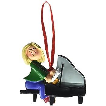 Ornament Central OC-122-FBL Female Blonde Piano Player Figurine
