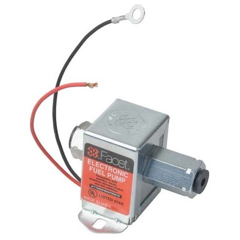 40177 Facet Cube Solid State Fuel Pump, 12 Volt, 1.0-2.0 PSI, 7 GPH