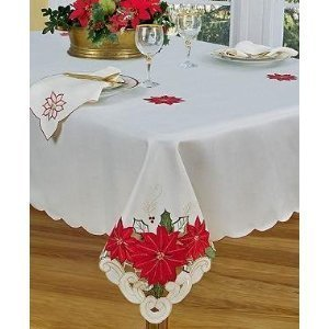 (Homewear Table Linens, Poinsettia Trio 60