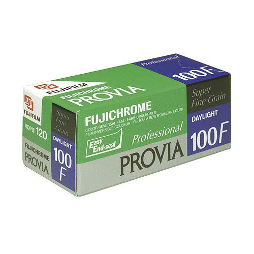 Fujifilm Fujichrome Provia 100F Color Reversal Film ISO 100, 120mm, 5 Roll Pro Pack