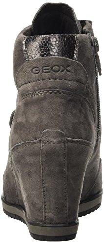 Grau A Dk Femme Hautes Sneakers Greyc9002 Illusion Geox qcCTAS