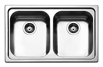Apell Lavello Cucina incasso foro Acciaio inox 79 2 vasche Roma 79 ...