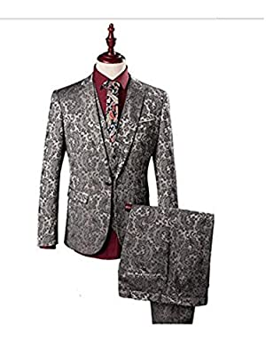 Aokaixin Men's Stylish One Button 3pc Business Suit for Wedding Event