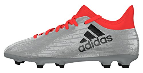 adidas X 16.3 Fg J, Botas de Fútbol para Niños Plata (Plamet / Negbas / Rojsol)