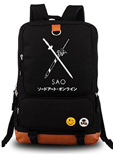 Siawasey Sword Art Online Anime SAO Cosplay Canvas Bookbag Backpack Shoulder Bag School Bag