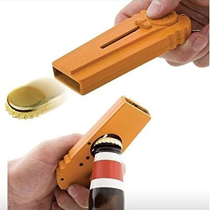 Bar Tools & Accessories orenge Kitchen, Dining & Bar Hapway® Cap Zappa Beer Bottle Opener And Cap Launcher Shoots With