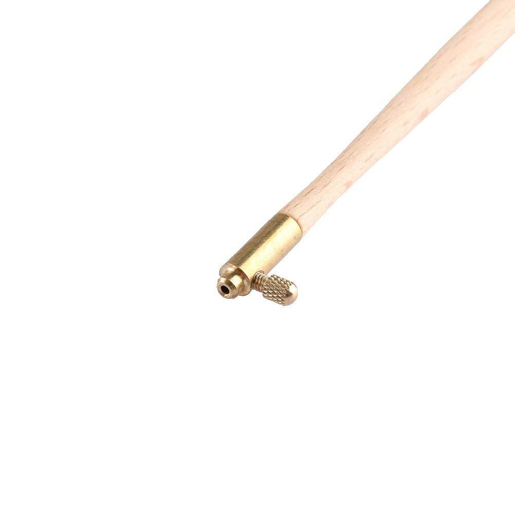 Jannyshop Tambour Needle Set Juego de Agujas de Tambor de Madera con Herramienta de Bordado de 3 Agujas