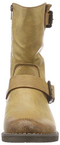 Rieker marrón mujer Braun material de Biker sintético 24 cayenne 95862 Boots rZraq