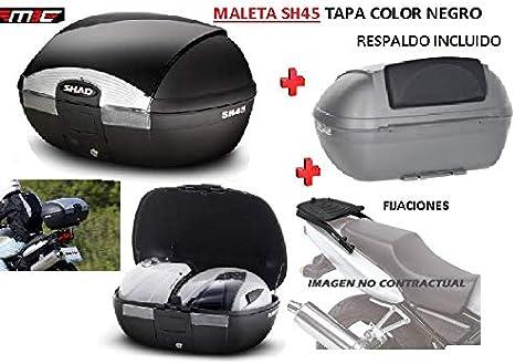 SHAD Kit BAUL Maleta Trasero SH45 litros + FIJACION + Respaldo Pasajero Regalo - Honda CB500X 2013-2018