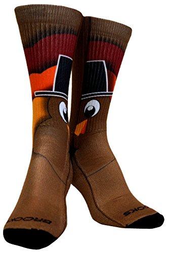 Brooks Turkey Pacesetter Crew Socks (large)
