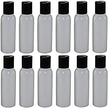 2-oz Refillable Bottle with Disc Cap (12 Pack, Black)