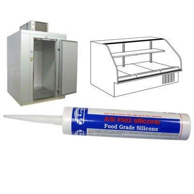 Aluminum Food Grade Silicone Sealant - 10 Oz Cartridge - 24 Tubes (Case)