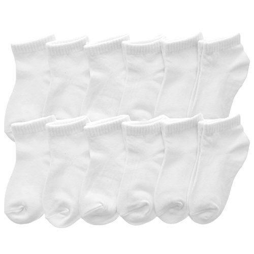 Angelina Cotton Low Cut Trainer Socks (12-Pack), 2305_WHT_6-8 ()