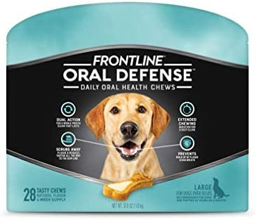 Frontline Oral Defense Daily Dental Chews for Large Dogs