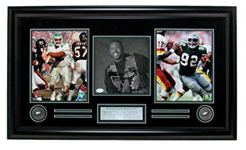 Autographed Reggie White Photo - 8x10 Collage Framed 142801 - JSA Certified - Autographed NFL Photos