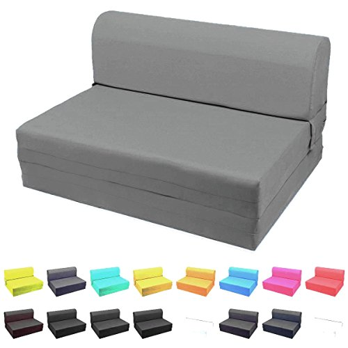 Sleeper Chair Ottoman (MaGshionSleeper Chair Folding Foam Bed Sized Single Size, Twin Size or Full Size (Single (5x23x70), Dark Grey))