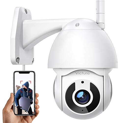 Security Camera Outdoor Victure 1080P WiFi Home Security Camera with Pan/Tilt 360° View Night Vision IP66 Waterproof…