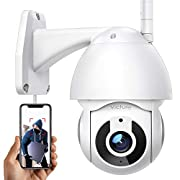 #LightningDeal Security Camera Outdoor Victure 1080P WiFi Home Security Camera with Pan/Tilt 360° View Night Vision IP66 Waterproof Motion Detection Compatible with iOS/Android