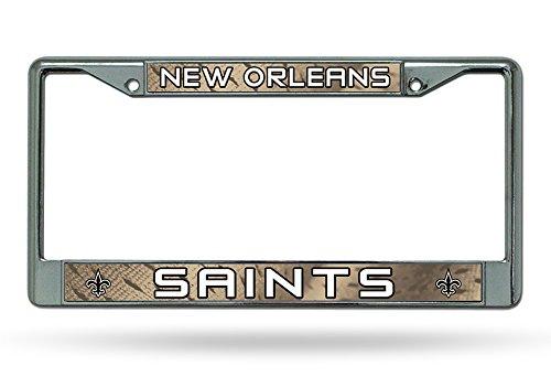 NFL New Orleans Saints Chrome Licensed Plate Frame