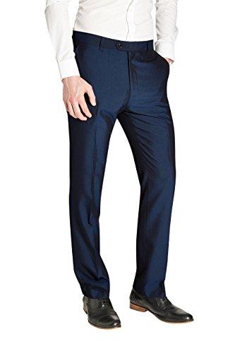 next Homme Pantalon sans pinces Bleu Foncé 38XL