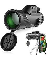 Telescopio Monocular, innislink 12X50 monocular HD Zoom Monoculares Telescopio con adaptador de teléfono y trípode, impermeable a prueba de golpes Para caza acampar observación aves juego de fútbol