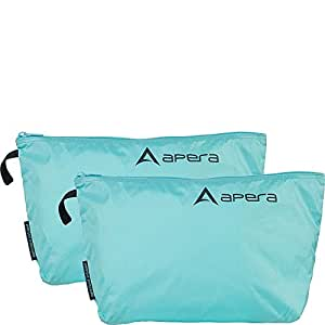 "Apera Fit Pocket Zippered Organization Bag, 8.5"" H, Artic Blue, 2 Piece"
