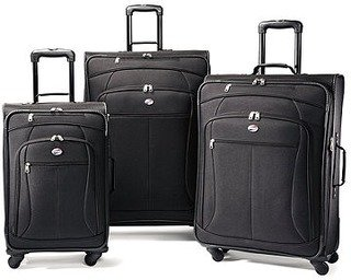 American Tourister Luggage At Pop Three-piece Spinner Set (Tourister Piece American 3)