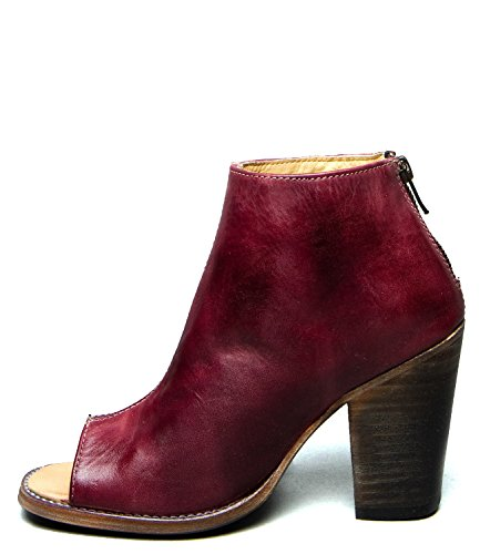 Bed Stu Womens Onset Dress Sandal Dark Scarlett Rustic SPqX0l