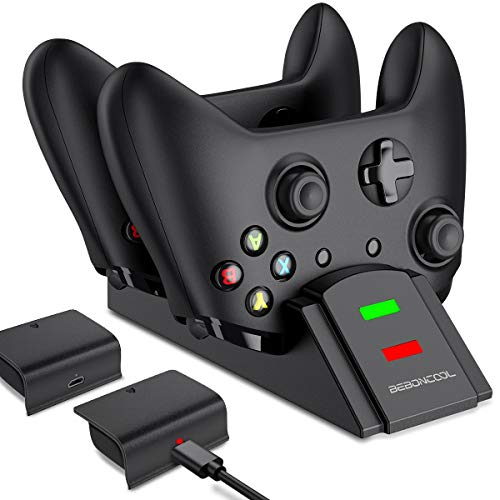 BEBONCOOL Station for Xbox One Controller Charger, Controller Charger Station Work with Xbox Series X S/Xbox One/One S…
